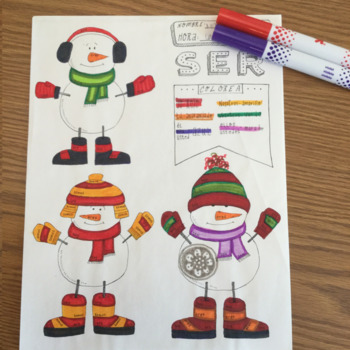 Christmas ~Navidad ~Spanish verb SER ~Color by verb conjug