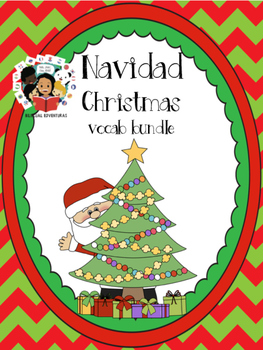 Christmas Navidad- Vocab Bundle and Literacy Centers - Spanish
