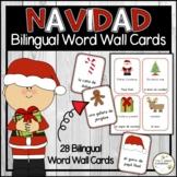 Christmas - Navidad Bilingual Word Wall Cards (English & Spanish)