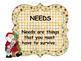 Christmas Needs & Wants Activities