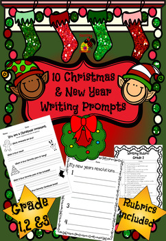 Christmas & New Year Writing Prompts - Grades 1, 2 & 3