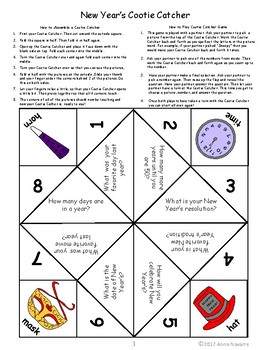 Christmas & New Year's Cootie Catchers