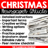 Christmas Writing Activity: Newspaper Article