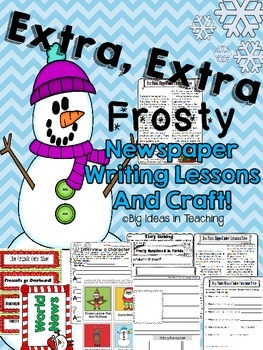 Christmas Newspaper Elaboration Writing Lessons and Craftivity