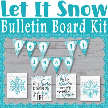 Christmas No PREP Bulletin Board Snowflake Quotes