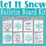 Let It Snow Farmhouse Classroom Bulletin Board, Door Décor