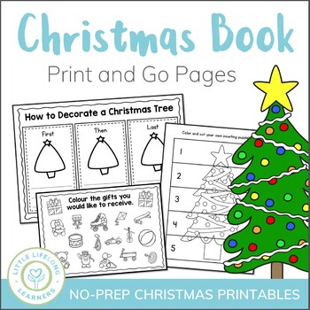 Christmas No Prep Activities and Printables - US and Australian Spelling