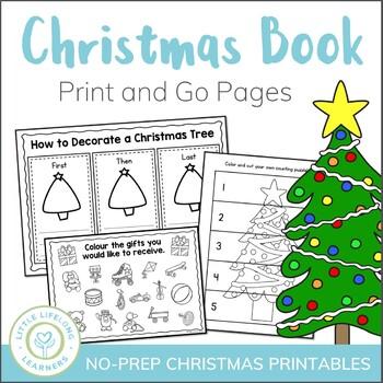 Printable Christmas Activities.Christmas Activity Packet No Prep Printables
