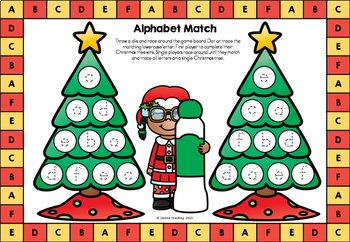 Christmas No Prep & Color Language Arts Board Games