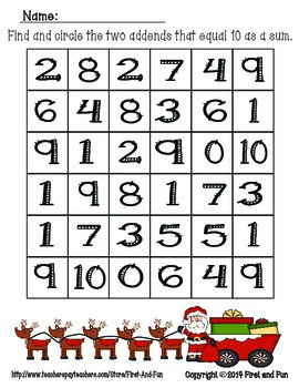 Christmas No Prep Common Core MAFS Thank You Freebie