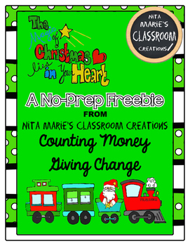 Christmas No-Prep Freebie ~ Counting Money