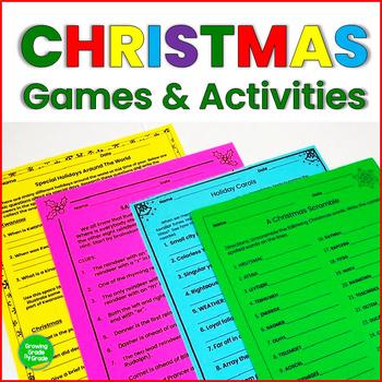 Christmas Fun No-Prep Holiday Activities