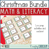 Christmas No Prep Literacy and Math Activities Bundle Pack