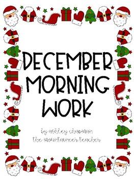 Christmas No Prep Morning Work