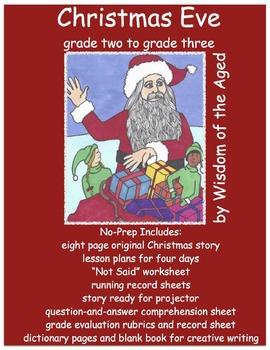 Christmas - Reading - No Prep - Writing  - Worksheets - Ev