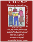 Christmas Original Story, worksheets, and more - no prep LA