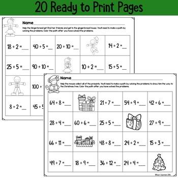 Christmas No Prep Printables: Basic Multiplication and Division