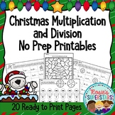 Multiplication and Division Christmas Printables