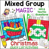 No-Prep Christmas Speech Therapy Activities with Yes-No & WH Questions