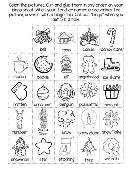 Christmas No Prep Speech and Language