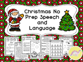 Christmas No Prep Speech and Language