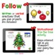 Christmas Following Directions Interactive Activity No-Print or Printable Cards