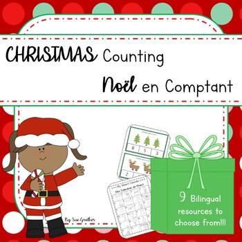 Christmas - Noël COUNTING (English & French)