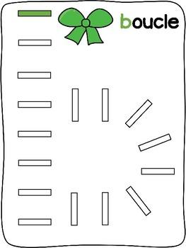 Christmas / Noël - French - Domino activity mats