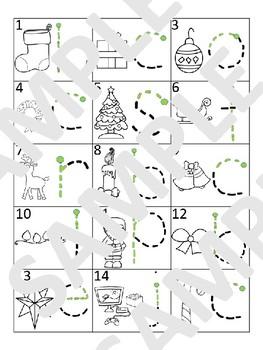 Christmas / Noël - French - Fine Motor activity mat bundle