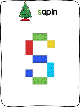 Christmas / Noël - French - Plastic building block activity mats