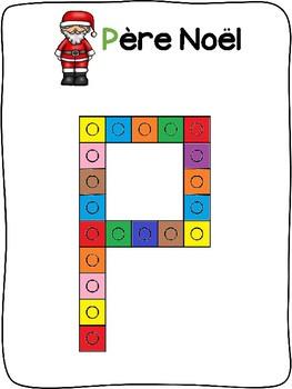 Christmas / Noël - French - Snap cube activity mats