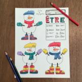 Christmas ~Noel ~French verb ETRE ~Color by verb conjugation ~NO PREP ~Etre