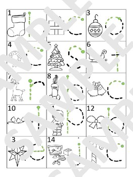 Christmas / Noël - Letter Tracing mats (French)