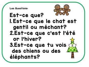 Christmas Noel Ontario Core French Speaking Activity-Animal theme