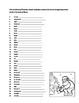 Christmas Noel Vocabulary Work sheet