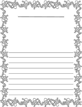 Christmas / Noël ~ Illustrated Writing Paper ~ Elves