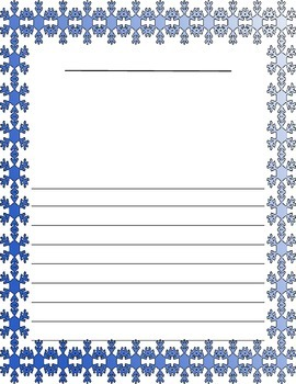 Christmas / Noël ~ Illustrated Writing Paper ~ Snowflakes
