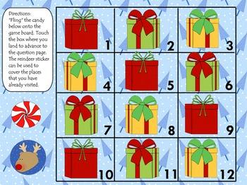 Christmas Non Standard Measurement Length Smart Board Lesson
