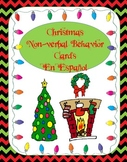 Christmas Non-verbal Behavior Cards En Espanol (Spanish)