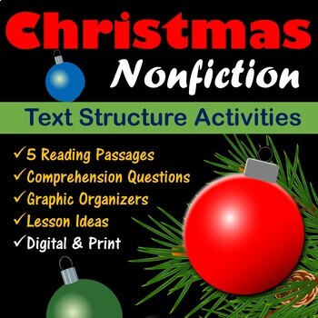 Christmas Articles.Christmas Nonfiction Text Structure Articles By English