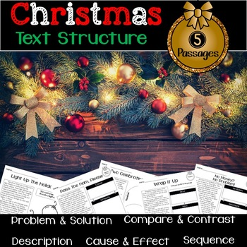 Christmas Nonfiction Text Structure Passages