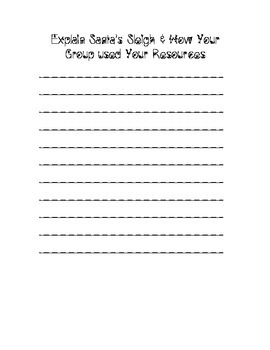 Christmas Nonrenewable and Renewable Worksheet
