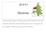 Christmas Nonsense words