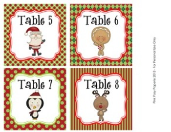 Christmas North Pole Pals Classroom Decor Table Numbers