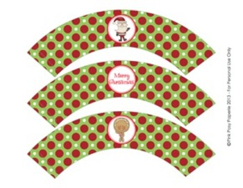 Christmas North Pole Pals Classroom Party Cupcake Wrappers