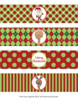 Christmas North Pole Pals Classroom Party Water Bottle Wrappers