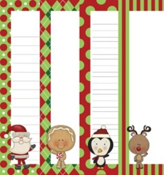 Christmas North Pole Pals Writing Paper - 3 Styles (7 1/2 x 10)
