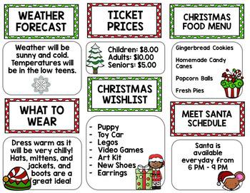 Christmas North Pole Tour Brochure {100% Editable} {Reading} {Writing}
