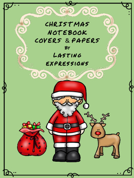 Christmas Notebook Covers and Pages