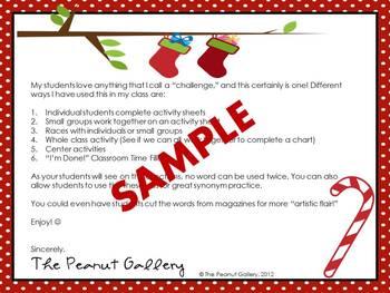 Christmas Noun & Adjective Challenge